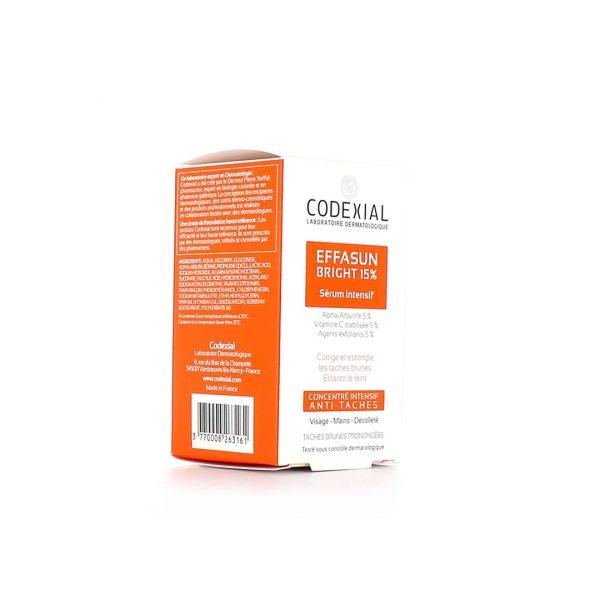CODEXIAL EFFASUN BRIGHT 15% FLACON