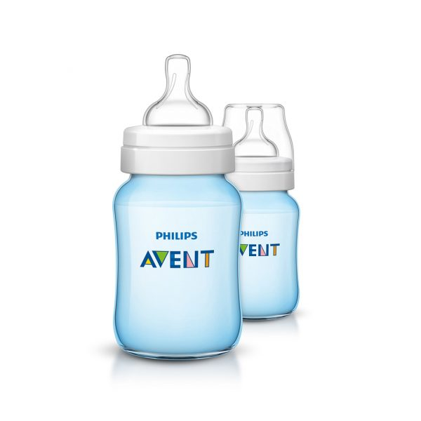 AVENT BIBERON CLASSIC+ PP 260 ML TWIN PACK BOY