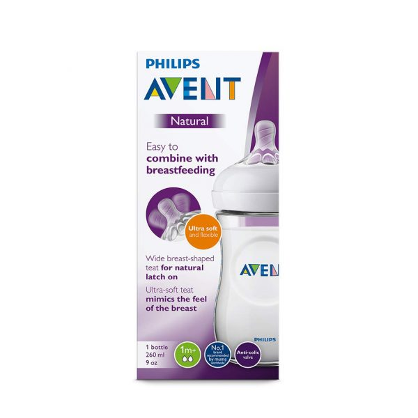 AVENT BIBERON NATURAL 260ML/90Z
