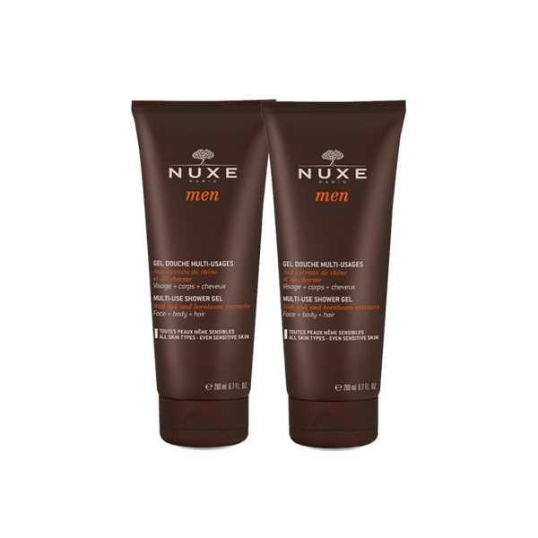 NUXE MEN - DUO GEL DOUCHE MULTI-USAGES 2X200ML